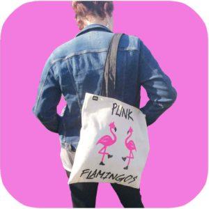 bolso pink flamingos