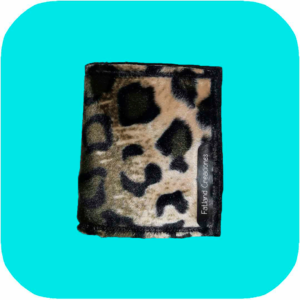 cartera de estampado de leopardo