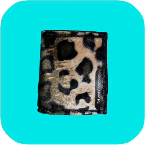 cartera de estampado de leopardo