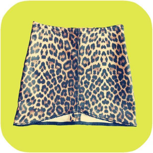 falda de neopreno estampado de leopardo