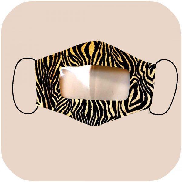 mascarilla homologada con estampado de cebra