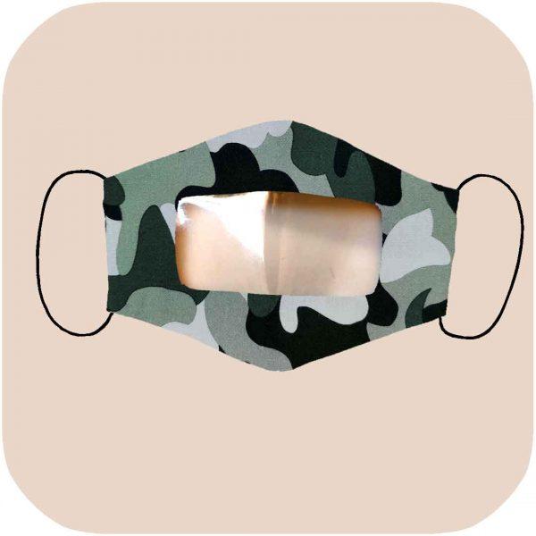 mascarilla inclusiva homologada con estampado de camuflaje