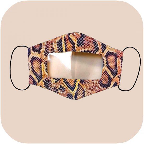 mascarilla inclusiva homologada con estampado de serpiente
