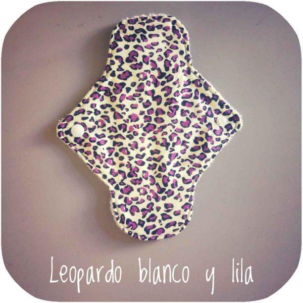 compresas de tela de leopardo blanco y lila