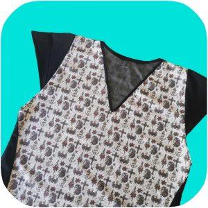 vestido tipo pinup de tela estampada con calaveras mexicanas y anclas estilo old school