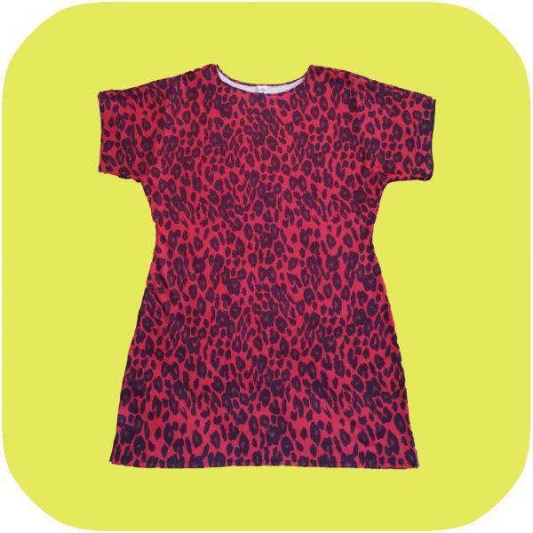 vestido de leopardo rojo