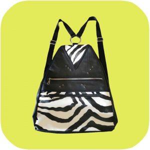 mochila de cebra