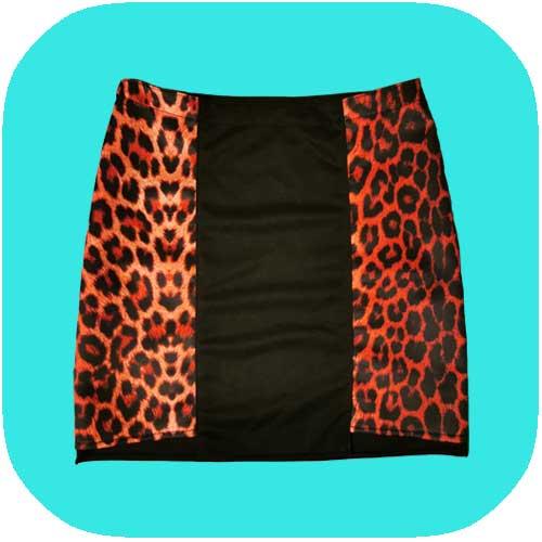 falda de leopardo rojo